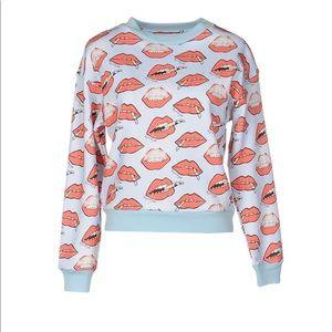 Au Jour Le Jour Smoking Lips Sweatshirt